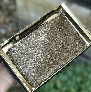 COACH Star Glitter Wristlets Small Zip Wristlet